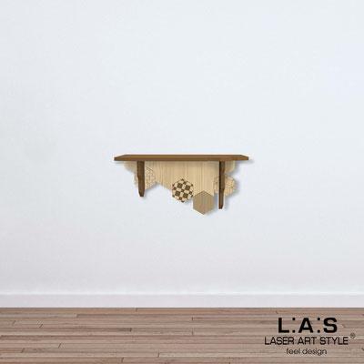 Complementi d'arredo </br> Codice: MW-312 | Misura: 60x30 cm </br> Colore: bronzo-natural wood-incisione legno