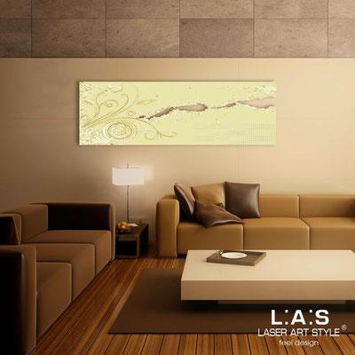 Quadri Astratti </br> Codice: SI-092-B | Misura: 180x58 cm </br> Colore: sabbia-decoro foglia oro-incisione tono su tono