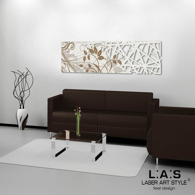 Abstract wall sculptures </br> Code: SI-110-B | Size: 148x50 cm </br> Colour: cream-wood engraving