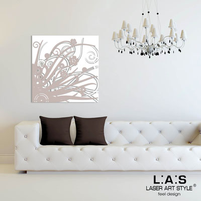 Abstract wall sculptures </br> Code: SI-107Q | Size: 90x90 cm </br> Colour: white-powder
