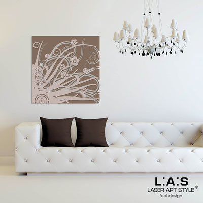 Abstract wall sculptures </br> Code: SI-107Q | Size: 90x90 cm </br> Colour: dove grey-powder