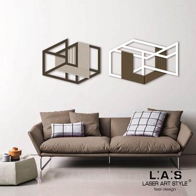 Quadri Astratti </br> Codice: SI-308 | Misura: 2pz 180x60 cm </br> Colore: marrone-bianco-incisione legno
