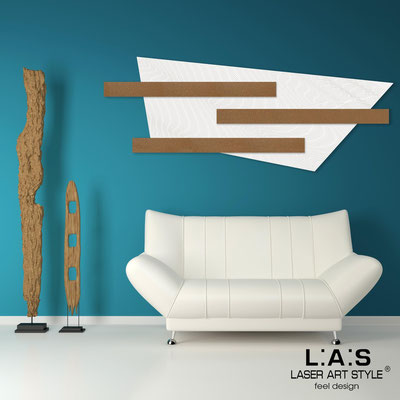 Abstract wall sculptures </br> Code: SI-190 | Size: 180x70 cm </br> Colour: white-bronze-wood engraving