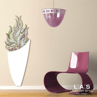 Quadri Floreali </br>  Codice: SI-191-F | Misura: 50x140 cm </br>  Colore: bianco-decoro toni caldi-incisione legno
