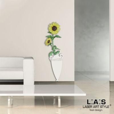 Quadri Floreali </br>  Codice: SI-179-D | Misura: 54x176 cm </br>  Colore: panna-decoro giallo-incisione legno