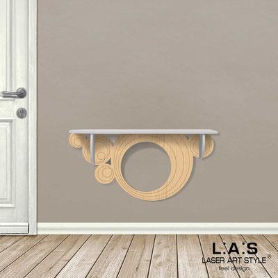 Complementi d'arredo </br> Codice: MW-279 | Misura: 110x30 cm </br> Colore: grigio luce-natural wood-incisione legno