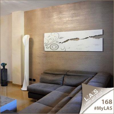 Abitazione privata | Italia </br> Codice: SI-092-B | Misura: 180x58 cm </br> Colore: bianco-decoro foglia argento
