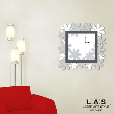 Orologi </br> Codice: SI-207 | Misura: 70x70 cm </br>  Colore: bianco-grigio luce-antracite