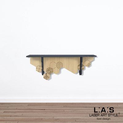 Complementi d'arredo </br> Codice: MW-313 | Misura: 110x30 cm </br> Colore: antracite-natural wood-incisione legno