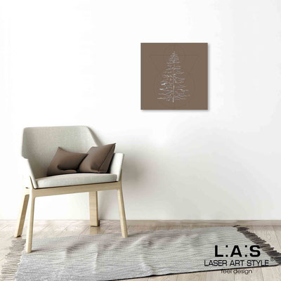 Quarantotto </br>  Code: Q-010 | Size: 48x48 cm </br> Colour: dove grey-wood engraving