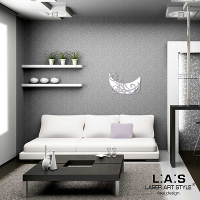 Figurative wall sculpture </br> Code: SI-242L | Size: 65x45 cm </br> Code: SI-242XL | Size: 93x64 cm </br> Colour: white-wistaria