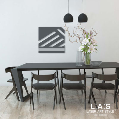Abstract wall sculptures </br> Code: SI-345 | Size: 60x60 cm </br> Colour: charcoal grey-concrete grey