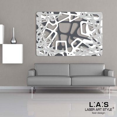 Quadri Astratti </br> Codice: SI-144 | Misura: 150x100 cm </br> Colore: antracite-bianco-argento