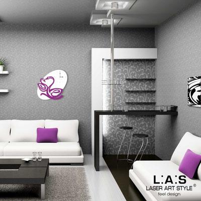 Orologi </br> Codice: SI-241OR | Misura: 68x68 cm </br>  Colore: bianco-violetto