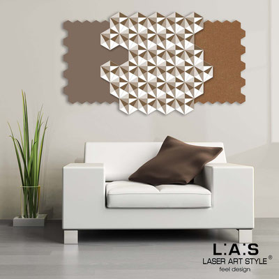 Abstract wall sculptures </br> Code: SI-142 | Size: 125x70 cm </br> Colour: dove grey-bronze-white-wood engraving