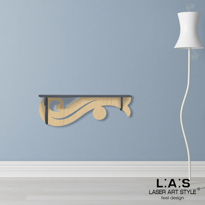 Complementi d'arredo </br> Codice: MW-285 | Misura: 110x30 cm </br> Colore: antracite-natural wood