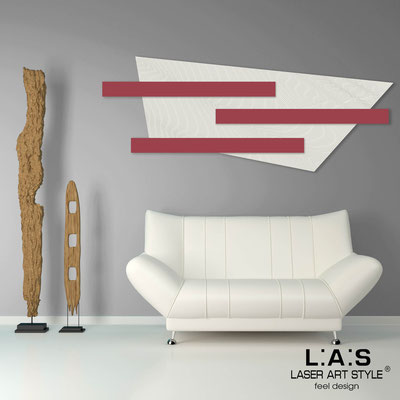 Abstract wall sculptures </br> Code: SI-190 | Size: 180x70 cm </br> Colour: cream-violet red-wood engraving