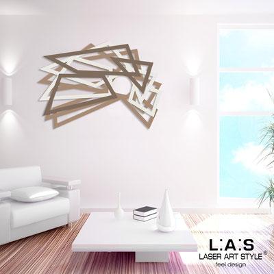 Abstract wall sculptures </br> Code: SI-186 | Size: 140x90 cm </br> Colour: hazel-cream-dove grey