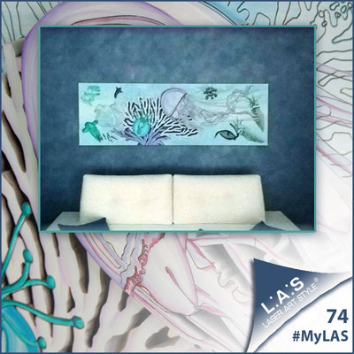 A casa di Daniela e Salvatore <br> Abitazione privata   Italia </br> Codice: SI-129   Misura: 180x60 cm </br> Colore: bianco - decoro azzurro