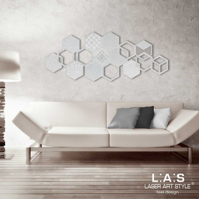 Abstract wall sculptures </br> Code: SI-299 | Size: 150x60 cm </br> Colour: silver-matched engraving