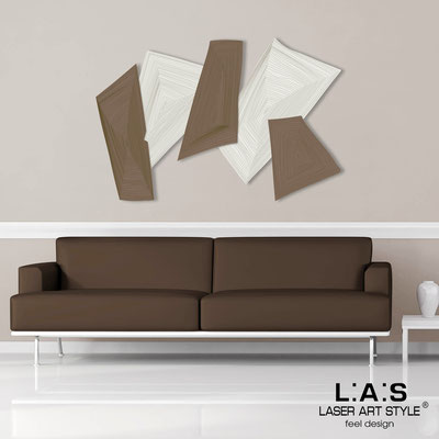 Quadri Astratti </br> Codice: SI-148 | Misura: 150x100 cm </br> Colore: panna-grigio marrone-incisione legno