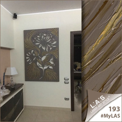 A casa di Marina   Italia </br> Cod: SI-137   Misura: 100x150 cm </br> Colore: grigio marrone-decoro stucco bronzato