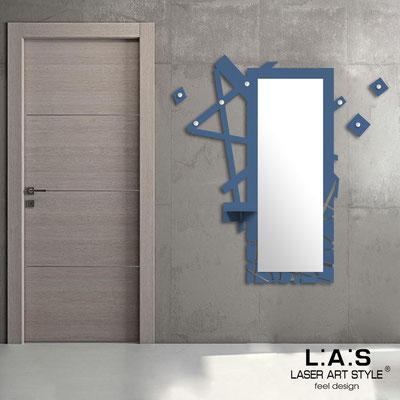 Complementi d'arredo </br> Codice: SI-293 | Misura: 100x150 cm </br> Colore: blu distante-acciaio inox-incisione tono su tono