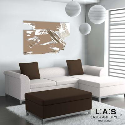 Quadri Astratti </br> Codice: SI-262 | Misura: 150x100 cm </br> Colore: bianco-nocciola-decoro marrone