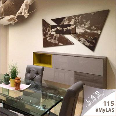 A casa di Salvuccio | Italia </br> Codice: SI-221L | Misura: 178x98 cm </br> Colore: bronzzo-incisione panna