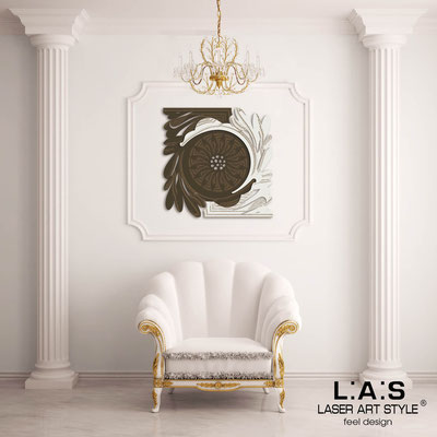 Abstract wall sculptures </br> Code: SI-123 | Size: 90x90 cm </br> Colour: brown-cream-wood engraving