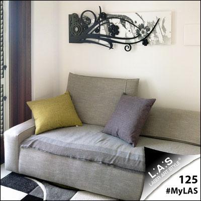 A casa di Beatrice e Massimo <br> Abitazione privata   Italia </br> Codice: SI-106   Misura: 148x60 cm <br> Colore: bianco-nero-incisione nero