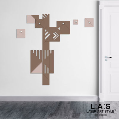 Complementi d'arredo </br> Codice: SI-366 | Misura: 90x150 cm </br> Colore: grigio marrone-cipria-incisione legno