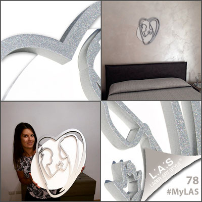 A casa di Irene <br> Abitazione privata | Italia </br> Codice: SI-227XL | Misura: 70x90 cm </br> Colore: bianco - argento