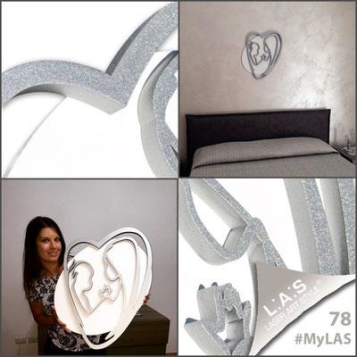 A casa di Irene <br> Abitazione privata   Italia </br> Codice: SI-227XL   Misura: 70x90 cm </br> Colore: bianco - argento
