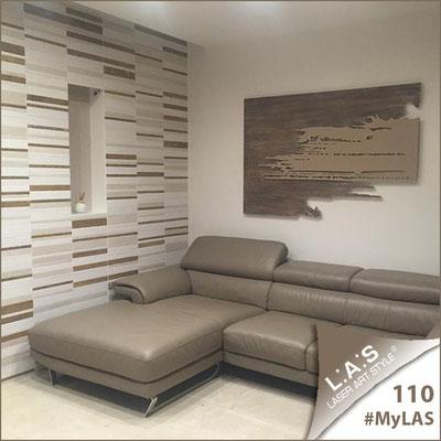 Abitazione privata | Italia </br> Codice: SI-258 | Misura: 150x100 cm </br> Colore: decoro stucco industrial-nocciola