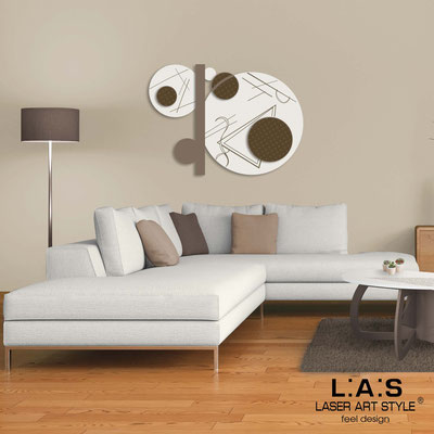 Abstract wall sculptures </br> Code: SI-349 | Size: 125x90 cm </br> Colour: cream-dove grey-wood engraving