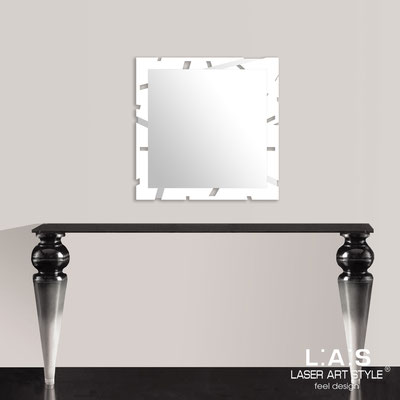 Mirrors </br> Code: SI-318 | Size: 60x60 cm </br>  Colour: white-inox steel