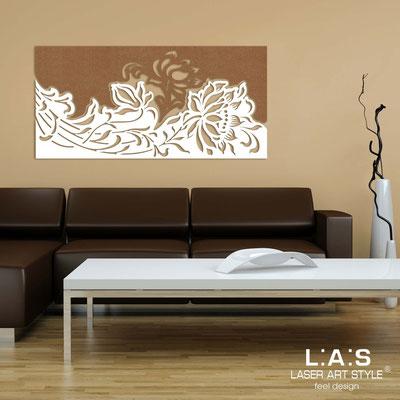 Quadri Floreali </br>  Codice: SI-163SS   Misura: 180x90 cm </br>  Colore:  bronzo-bianco