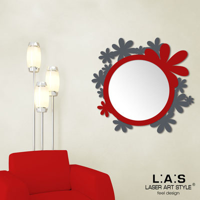 Mirrors </br> Code: SI-206Q-SP | Size: 93x87 cm </br>  Colour: charcoal grey-red
