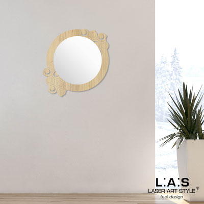 Mirrors </br> Code: W-419 | Size: 70x70 cm </br>  Colour: natural wood