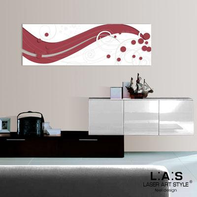 Quadri Astratti </br> Codice: SI-108-B | Misura: 180x58 cm </br> Colore: rosso violetto-bianco-incisione legno