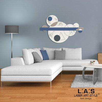 Quadri Astratti </br> Codice: SI-350 | Misura: 150x100 cm </br> Colore: panna-blu distante-incisione legno
