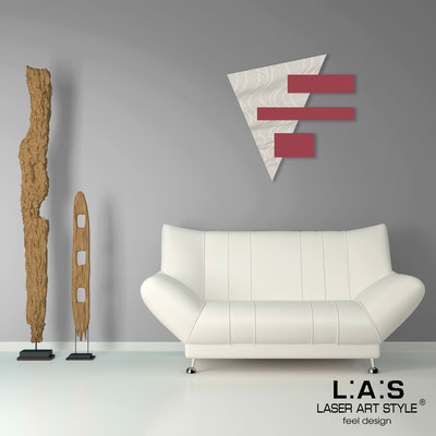 Abstract wall sculptures </br> Code: SI-188 | Size: 65x65 cm </br> Colour: cream-violet red-wood engraving