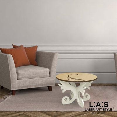 Complementi d'arredo </br> Codice: MW-288 | Misura: 60x60 h40 cm </br> Colore: natural wood-panna