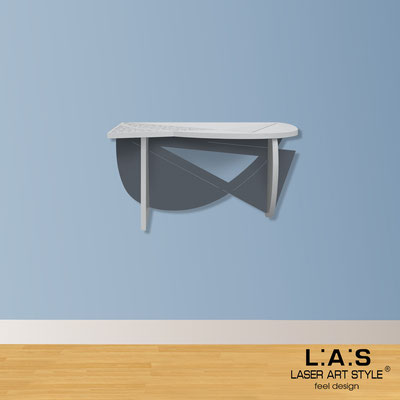 Complementi d'arredo </br> Codice: SI-380 | Misura: 60x30 cm </br> Colore: grigio luce-antracite-incisione legno