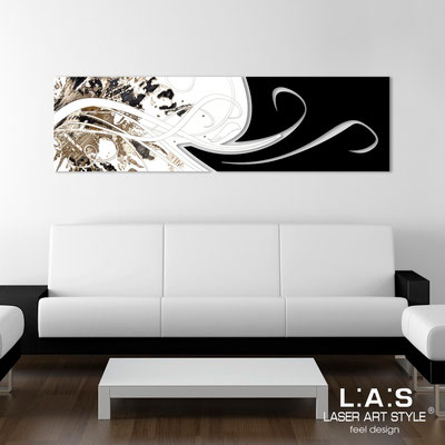 Abstract wall sculptures </br> Code: SI-091-B | Size: 180x58 cm </br> Colour: white-black-black engraving