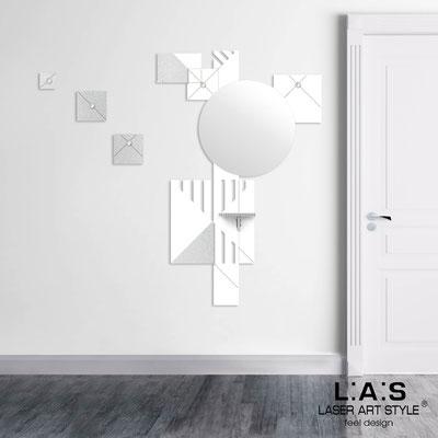 Complementi d'arredo </br> Codice: SI-365 | Misura: 96x150 cm </br> Colore: bianco-argento-incisione legno