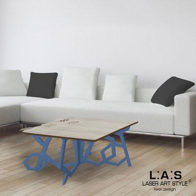 Furnishings </br> Code: MG-317   Size: 100x60 h50 cm </br> Colour: grey wood-denim-wood engraving