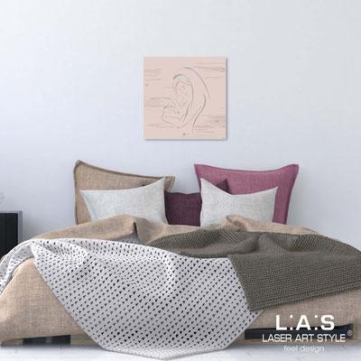Quarantotto sacri </br> Codice: Q-034-T8 | Misura: 48x48 cm </br>  Colore: rosa bon bon-incisione tono su tono