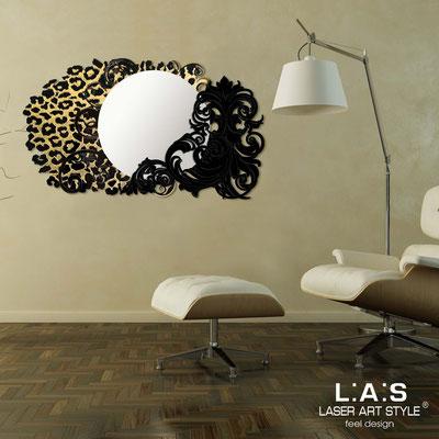 Mirrors </br> Code: SI-224-SP | Size: 120x68 cm </br>  Colour: black-golden decoration-matched engraving